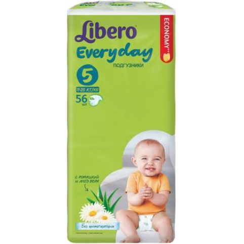 Подгузники Libero Everyday 11-25 кг (5) 56шт.