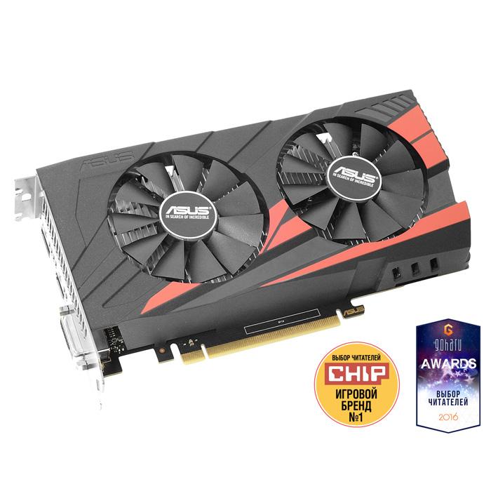 Видеокарта PCI-E ASUS GeForce GTX 1050 Ti 4096Mb, DDR5 ( EX-GTX1050TI-O4G ) Ret