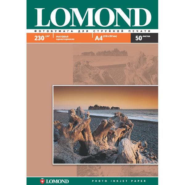 Фотобумага A4 Lomond 230гр, 50л Матовая, 1стор. ( 102016 )