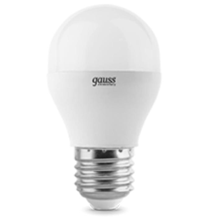 Светодиодная лампа Gauss Elementary Globe E27 6W 220V белый свет