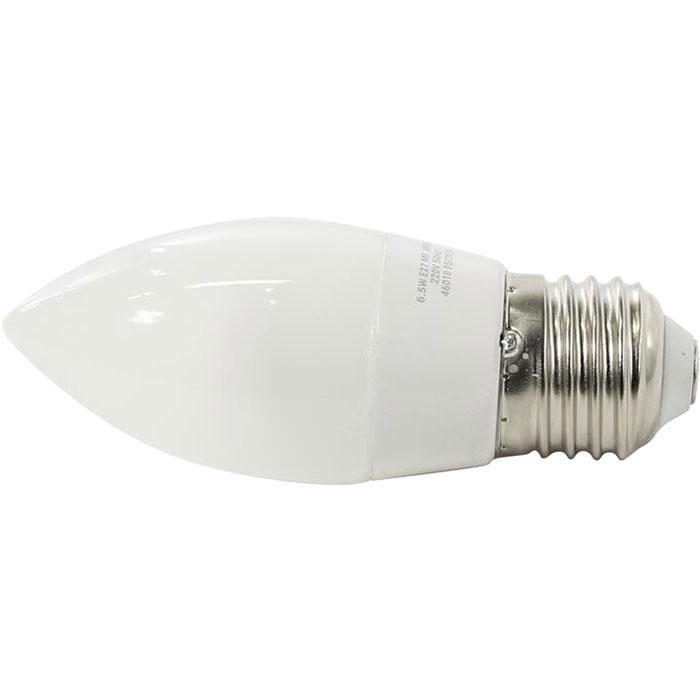 Светодиодная LED лампа X-flash Candle E27 6.5W 220V желтый свет, матовая колба