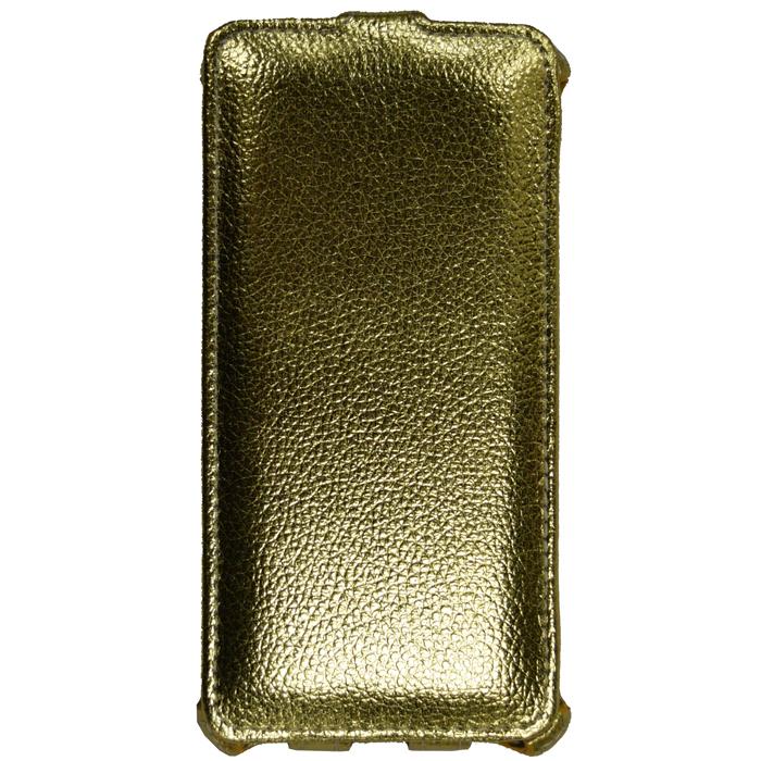 Чехол Gecko Flip case для Samsung Galaxy J2 Prime SM-G532, золотистый