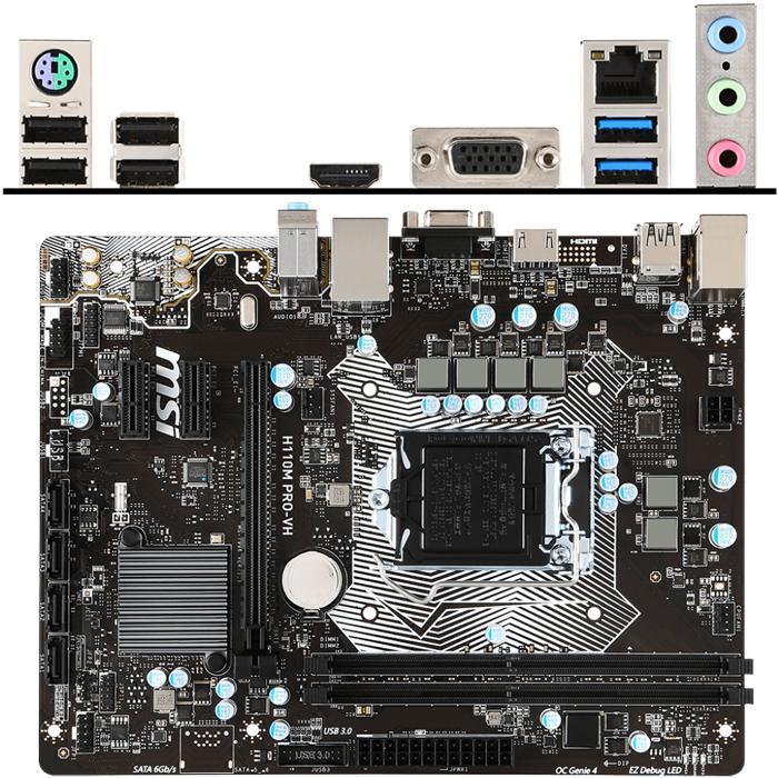 Материнская плата MSI H110 LGA1151 DDR4 ( H110M Pro-VH ) mATX, Ret