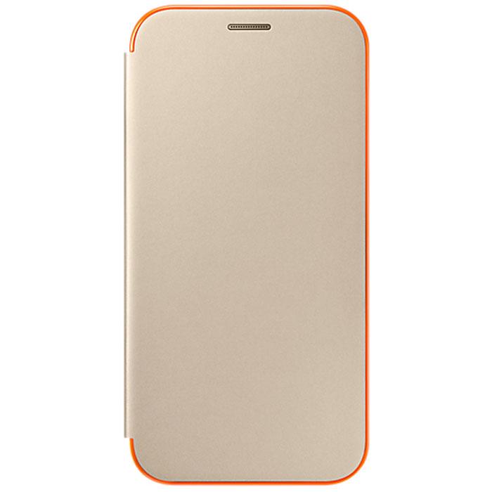 Чехол Neon Flip Cover для Samsung Galaxy A7 (2017) SM-A720F, золотистый