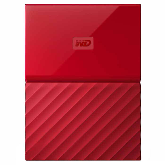 Внешний жесткий диск USB3.0 2.5″ 1.0Тб WD My Passport ( WDBBEX0010BRD-EEUE ) Красный