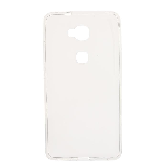 Чехол Gecko Силиконовая накладка для Huawei Honor 5X, прозрачно-глянцевая, белая