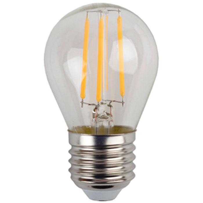 Светодиодная лампа ЭРА F-LED P45 E27 5W 220V желтый свет