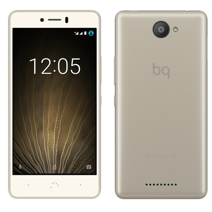 Смартфон BQ Aquaris U Lite 16Gb 2GB RAM White/Gold