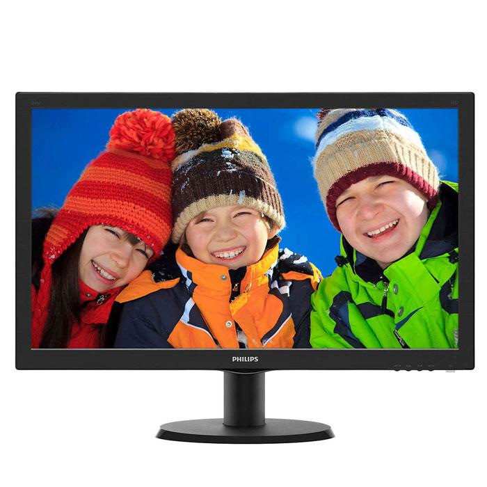 Монитор ЖК Philips 243V5QHABA 23.6″ MVA VGA DVI HDMI