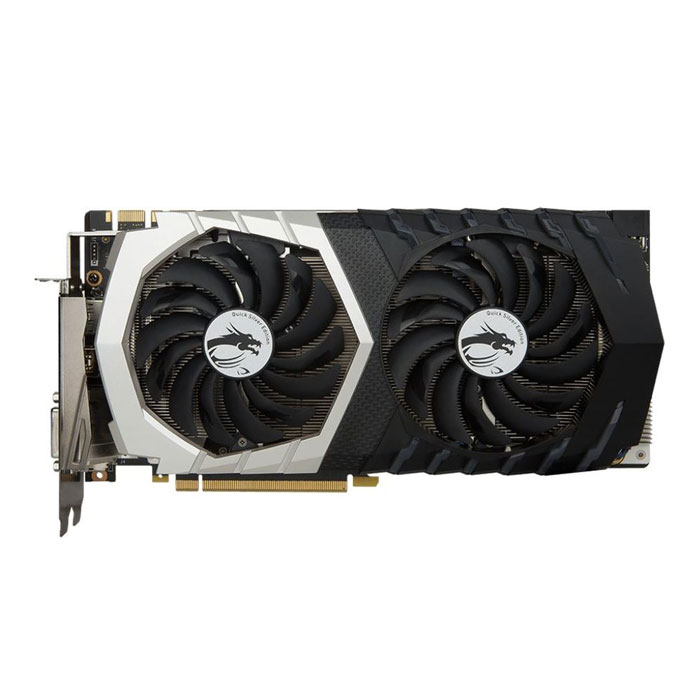 Видеокарта PCI-E MSI GeForce GTX 1070 8192Mb, Quick Silver 8G OC GDDR5X Ret