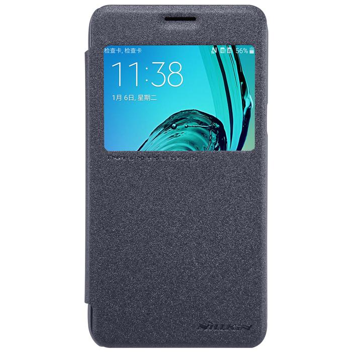Чехол Nillkin Sparkle Leather Case для Samsung Galaxy J3 (2016) SM-J320F, черный