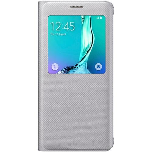 Чехол Samsung S View PU для G928 Galaxy S6 Edge Plus, серый