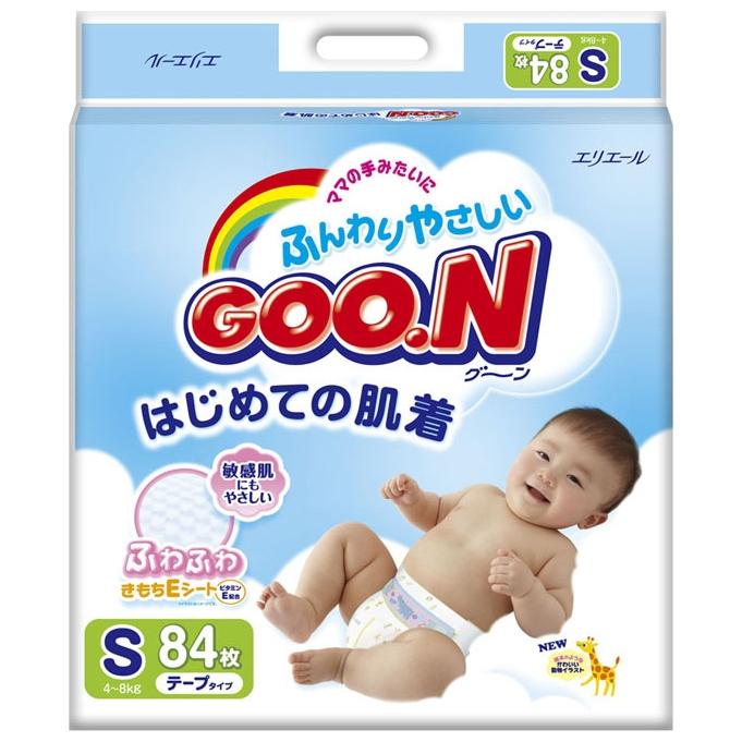 Подгузники Goon (4-8кг) 84шт