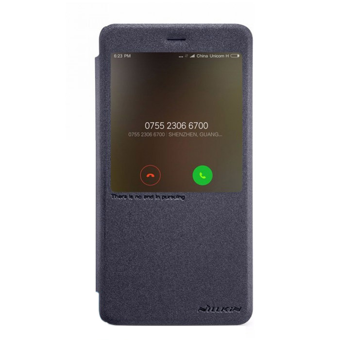 Чехол Nillkin Sparkle leather case для Xiaomi Redmi Note 4X, черный