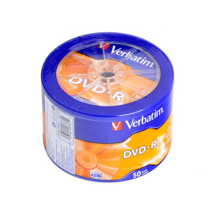 Оптический диск DVD-R Verbatim 4,7Gb 16x 50шт. wagon wheel ( 43731 )