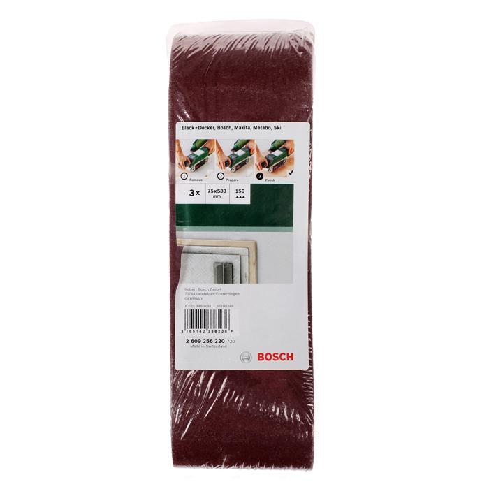 Набор шлифлент по дереву Bosch 75×533мм 150 зерно 3шт 2609256220