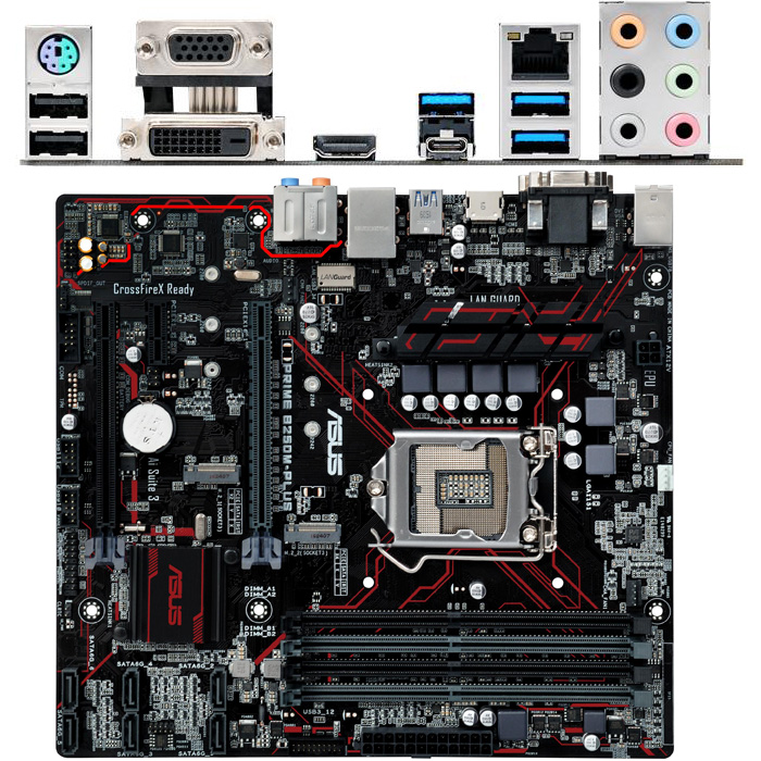 Материнская плата ASUS B250 LGA1151 DDR4 ( Prime B250M-Plus ) mATX, Ret