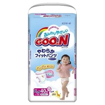 Подгузники Goon Трусики (12-20кг) 40шт для девочек