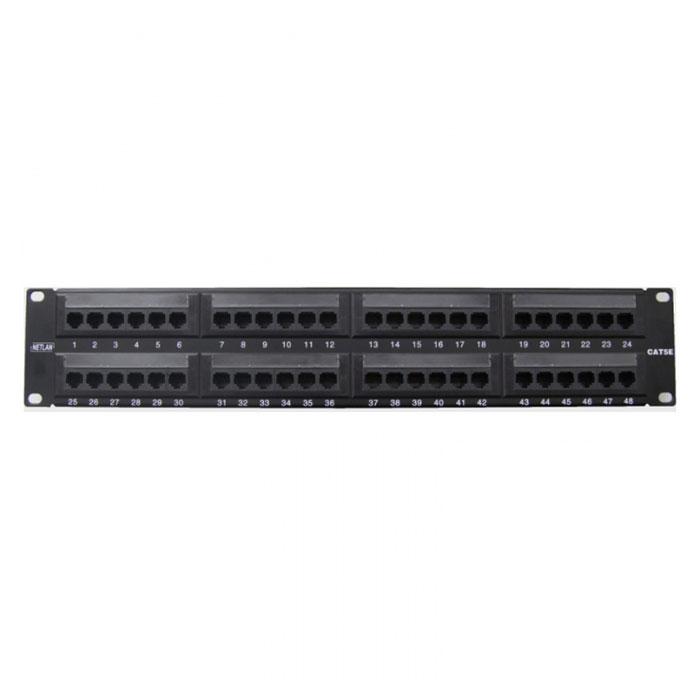 Патч-панель 19″ Netlan EC-URP-48-UD2 UTP 5e кат., 48 портов, 110/KRONE,T568A/B