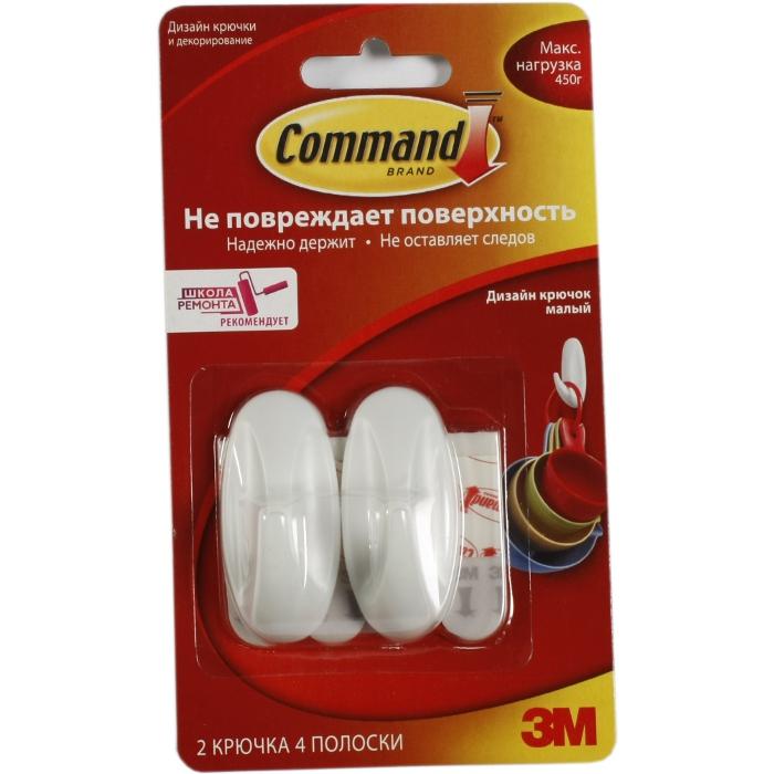Command 17082 легкоудаляемый дизайн крючок мал. 450г, 2шт