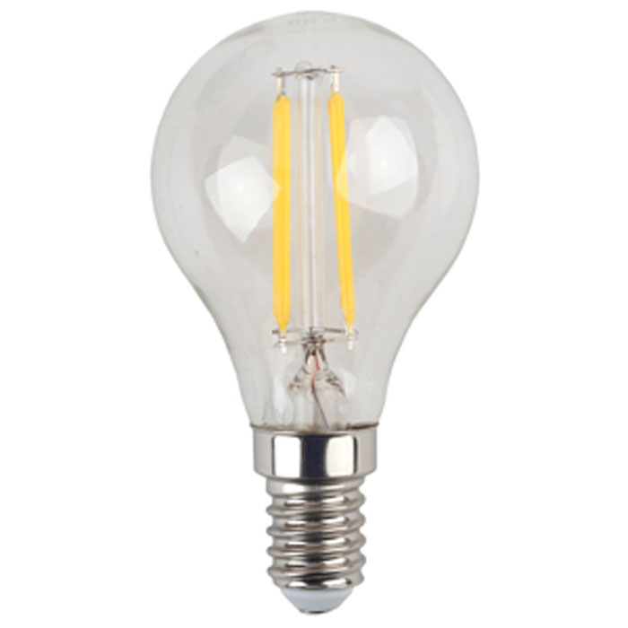 Светодиодная лампа ЭРА F-LED P45 E14 5W 220V желтый свет
