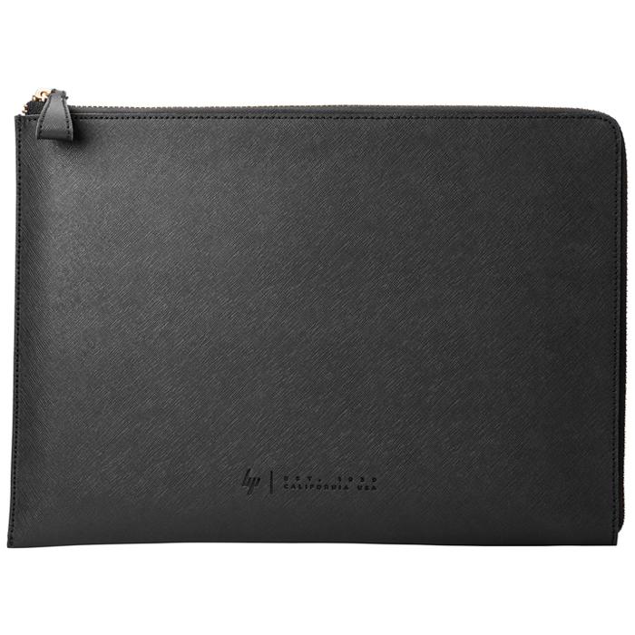 Чехол 13.3″ HP Spectre Black Leather Sleeve, кожанный, черный