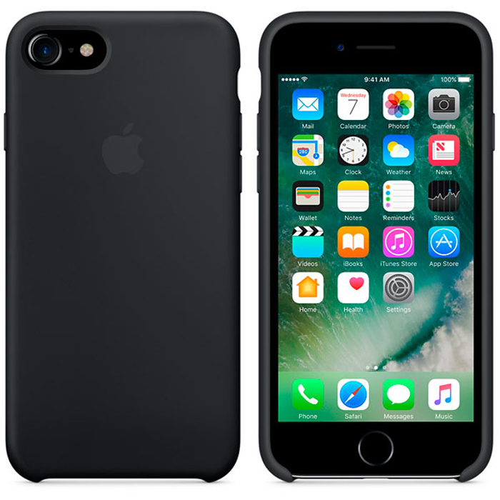 Чехол для Apple iPhone 7 Silicone Case Black MMW82ZM/A