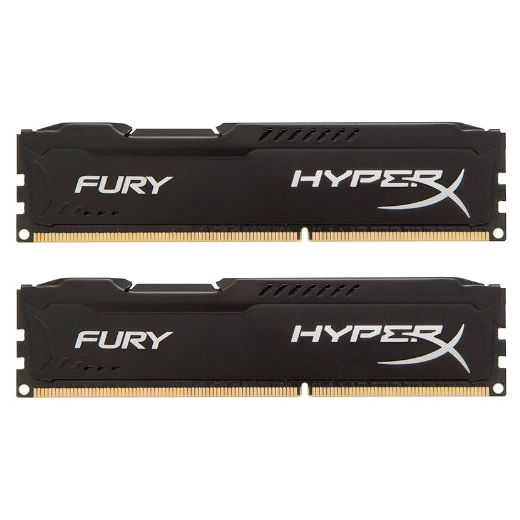 Набор памяти DDR3 1866MHz 16Gb (2x8Gb) Kingston HyperX Fury Black Series ( HX318C10FBK2/16 ) Retail
