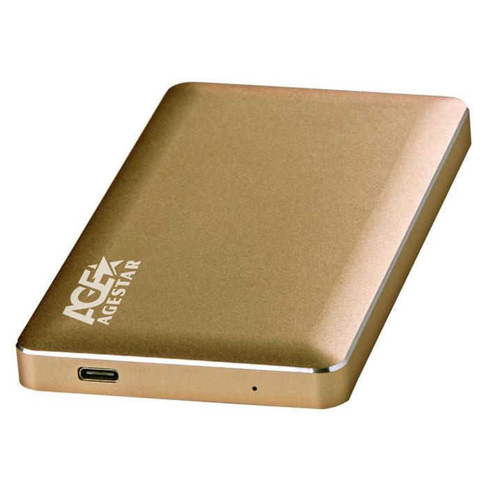 Корпус для HDD 2.5″ SATA-USB3.1 Type C AgeStar 31UB2A16C Золотой