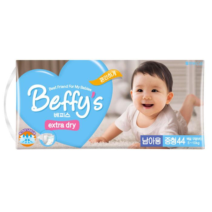 Подгузники для мальчиков Beffy's extra dry М 5-10кг/44шт