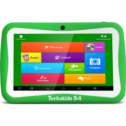 Планшетный компьютер 7″ детский TurboPad TurboKids S4 Cortex A9 1,3GHz/512Gb/8Gb/7″ 1024*600/WiFi/Android 4.4.4/зеленый