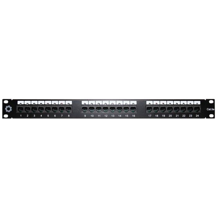 Патч-панель 19″ 5bites LY-PP5-14 UTP 5e кат., 24 порта с индикацией, Krone & 110 dual IDC, 1U