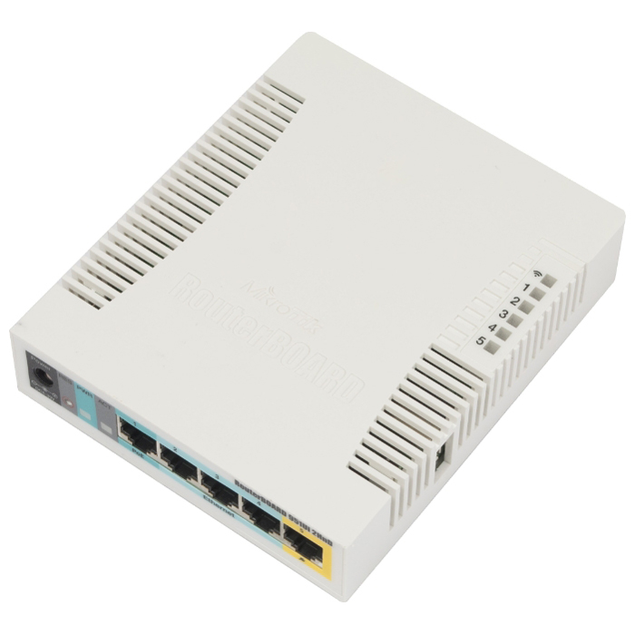 Беспроводной маршрутизатор MikroTik RB951Ui-2HnD 802.11n 300Mbps 5xLAN