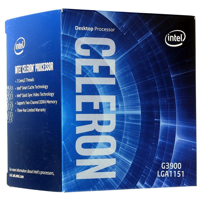Процессор LGA 1151 Intel Celeron G3900 2.8GHz, 2Mb ( G3900 ) Box