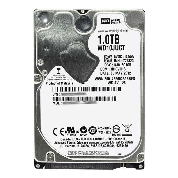 Жесткий диск 2.5″ SATA3 1.0Тб WD AV-25 5400rpm 16mb ( WD10JUCT )