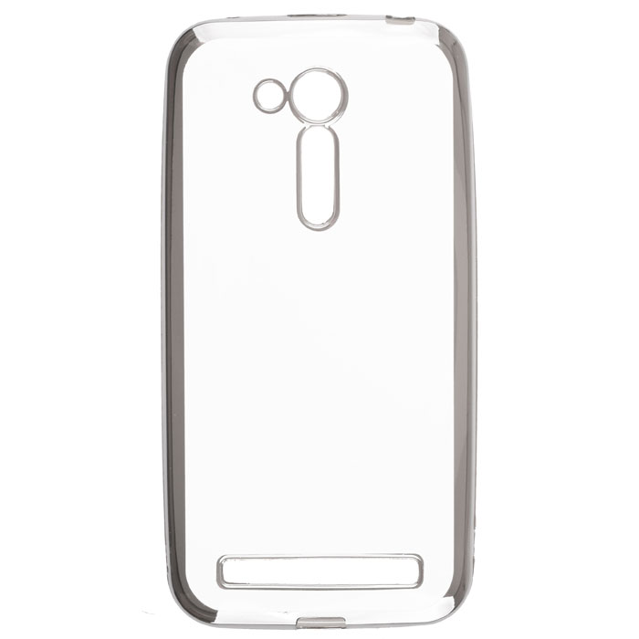 Чехол skinBOX 4People silicone chrome border case для Asus ZenFone Go ZB452KG/ZB450KL серебристый