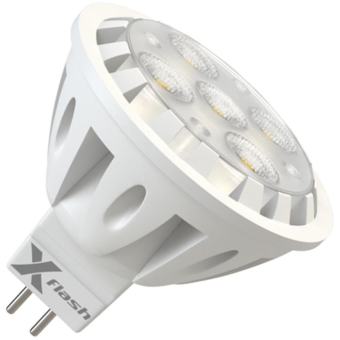 Светодиодная LED лампа X-flash MR16 GU5.3 6W 12V 43507 желтый свет