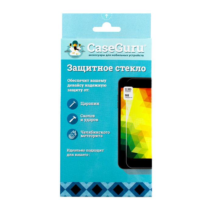 Защитное стекло CaseGuru для iPhone 6 / iPhone 6s 3D, изогнутое по форме дисплея, белая рамка