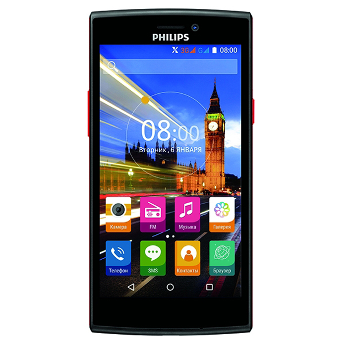 Смартфон Philips S337 Black-Red