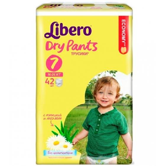 Трусики Libero Dry Pants эконом экстра лардж плюс 16-26кг, 28шт.