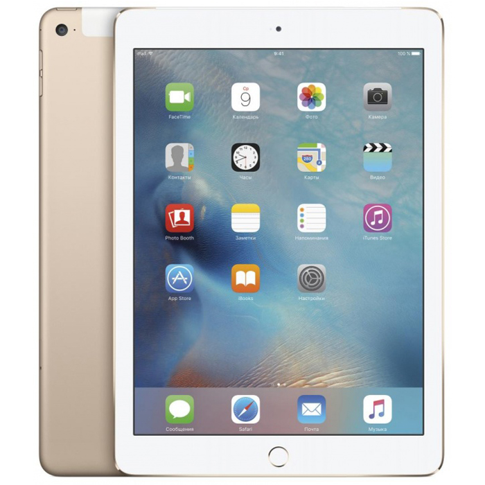 "Планшетный компьютер 9.7"" Apple iPad Air 2, 32Гб Flash, Cellular, Gold (MNVR2RU/A)"