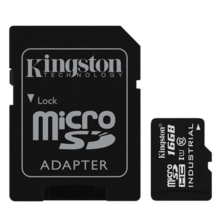 Флеш-карта microSDHC 16Гб Kingston , UHS-1, U1, Industrial, Class 10 ( SDCIT/16GB ) адаптер SD