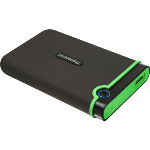 Внешний жесткий диск USB3.0 2.5″ 2Тб Transcend StoreJet ( TS2TSJ25M3 ) Черно-зеленый