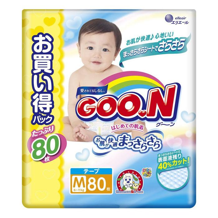 Подгузники Goon Ultra Jumbo Pack 6-11кг (80шт)