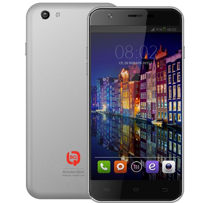 Смартфон BQ Mobile BQS-5505 Amsterdam Silver