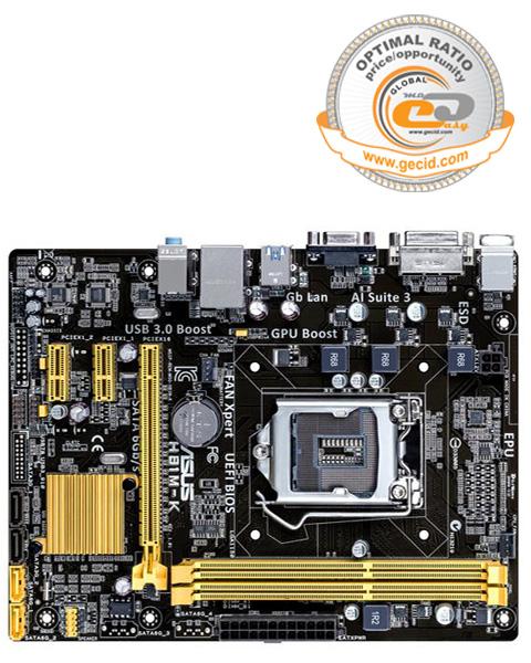 Материнская плата ASUS H81 LGA1150 DDR3 ( H81M-K ) mATX Ret
