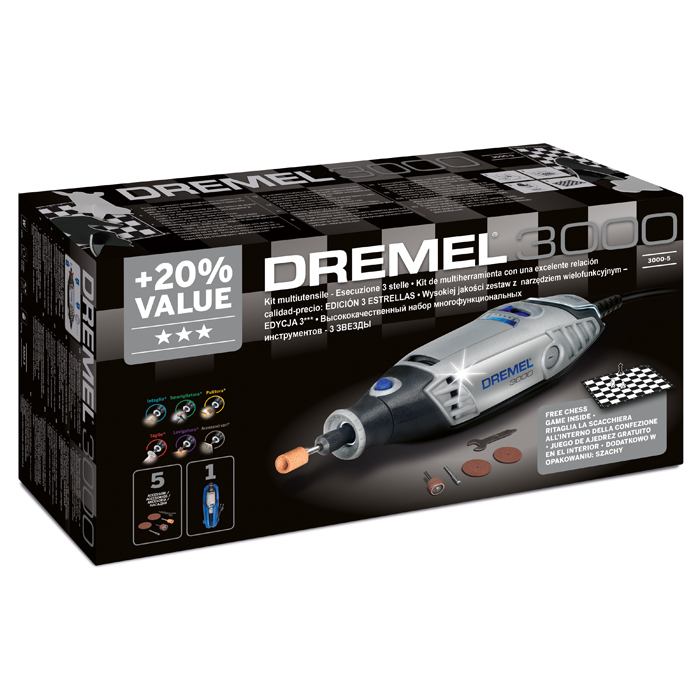 Многофункциональный инструмент Dremel 3000-05 (3 звезды) F0133000MG