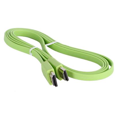 Кабель HDMI v2.0 1.5м Prolink ( PB358G-0150 ) Зеленый плоский