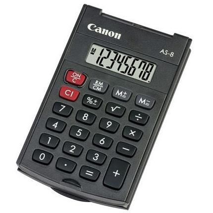 Калькулятор Canon AS-8 черный, 8 разрядов