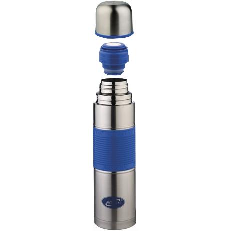 1000NB-P B Термос у/г с силиконовой вставкой голубой Biostal (1л)
